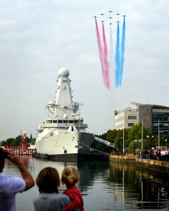 Red Arrows Over HMS Duncan