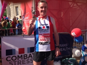 Solicitor Simon Cobb ran the London Marathon to raise funds for Combat Stress
