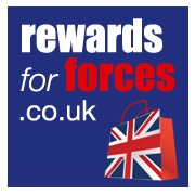 Rewards for Forces alternate logo - discounts for forces personnel, veterans and forces families